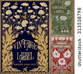 vector vintage items  label art