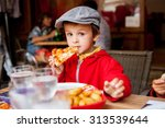 sweet adorable child  boy ... | Shutterstock . vector #313539644