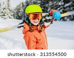 ski  winter vacation  snow ... | Shutterstock . vector #313554500
