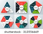 vector triangle  square ... | Shutterstock .eps vector #313556669