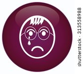 crying boy icon. flat vector...   Shutterstock .eps vector #313558988