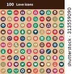 love 100 icons universal set...   Shutterstock .eps vector #313559090