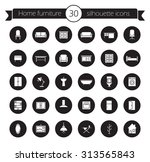 furniture icons set. home... | Shutterstock .eps vector #313565843