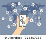 internet of things and mobile... | Shutterstock .eps vector #313567388