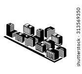 office buildings icons | Shutterstock .eps vector #313569350