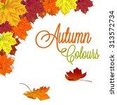 autumn background | Shutterstock .eps vector #313572734