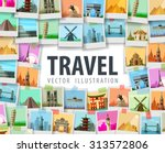 travel vector logo design... | Shutterstock .eps vector #313572806