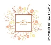 vector vintage  template with... | Shutterstock .eps vector #313573340