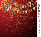 birthday background with... | Shutterstock .eps vector #313577300