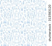 hand drawn seamless pattern... | Shutterstock .eps vector #313583120