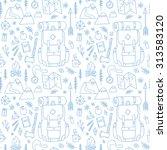hand drawn seamless pattern... | Shutterstock .eps vector #313583120