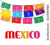 mexican banner  mexico.... | Shutterstock .eps vector #313584983