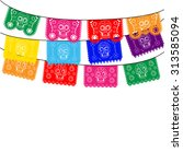 mexico. multicolored template... | Shutterstock .eps vector #313585094