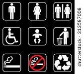 toilet restroom icons | Shutterstock .eps vector #313587008