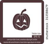 happy halloween icon | Shutterstock .eps vector #313588679