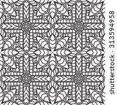 seamless abstract tribal black... | Shutterstock .eps vector #313594958