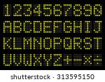 digital  letters and numbers...   Shutterstock .eps vector #313595150