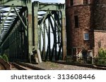 the riveted steel beams and a... | Shutterstock . vector #313608446