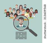 vector concept of human... | Shutterstock .eps vector #313609568