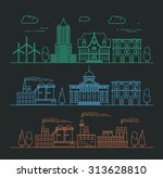 vector city  environment and...   Shutterstock .eps vector #313628810