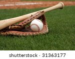 baseball and glove | Shutterstock . vector #31363177