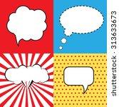 speech bubble in pop art style. ... | Shutterstock .eps vector #313633673