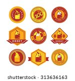 set of stylized emblems and... | Shutterstock .eps vector #313636163