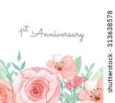 flower wedding invitation card  ... | Shutterstock . vector #313638578