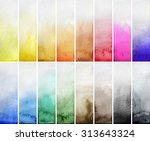 watercolor gradient rectangles. ... | Shutterstock . vector #313643324