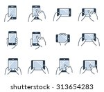 mobile gadgets  tablets and... | Shutterstock .eps vector #313654283