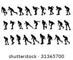 vector figure skaters.... | Shutterstock .eps vector #31365700
