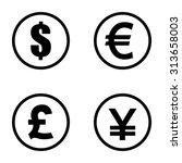Money Symbols . Vector...