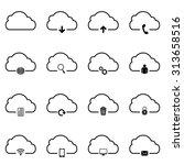 cloud set icon . vector...   Shutterstock .eps vector #313658516