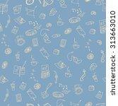 vector illustration. seamless... | Shutterstock .eps vector #313663010