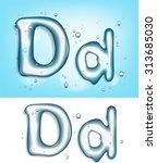 alphabet water letter d | Shutterstock .eps vector #313685030