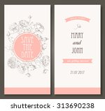 vintage vector card templates.... | Shutterstock .eps vector #313690238