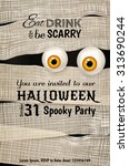 invitation design for halloween ... | Shutterstock .eps vector #313690244