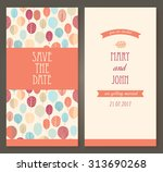 vintage vector card templates.... | Shutterstock .eps vector #313690268