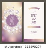 vintage vector card templates.... | Shutterstock .eps vector #313690274