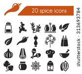 spice icons | Shutterstock .eps vector #313693784