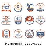 vintage tailor shop original...   Shutterstock .eps vector #313696916