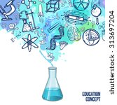 education concept with... | Shutterstock .eps vector #313697204