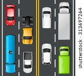 highway traffic concept with... | Shutterstock .eps vector #313697264