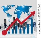 modern design graph. business... | Shutterstock .eps vector #313701860
