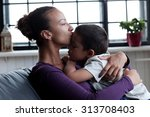 family. beautiful mother and... | Shutterstock . vector #313708403