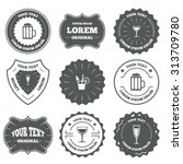 vintage emblems  labels.... | Shutterstock .eps vector #313709780