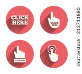 Click Here Icons. Hand Cursor...