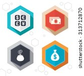 hexagon buttons. currency... | Shutterstock .eps vector #313712870
