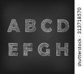 vector illustration of chalk... | Shutterstock .eps vector #313718570