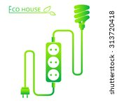 energy saving concept. vector. | Shutterstock .eps vector #313720418